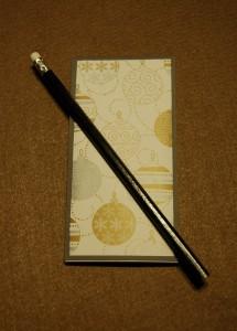 Block und Bleistift
